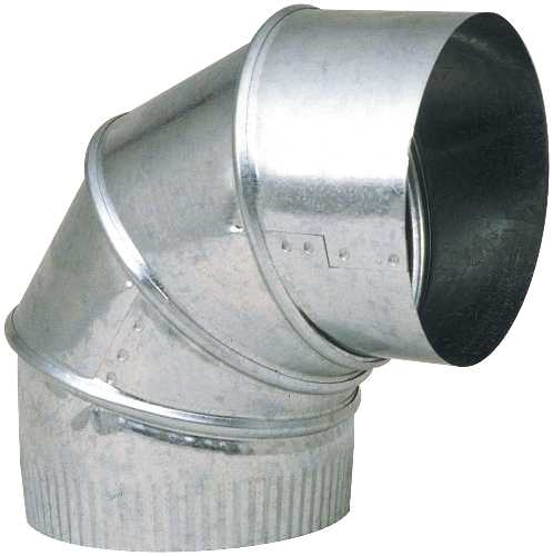 3 IN GALVANIZED 90 DEGREE ADJUSTABLE ELBOW 24 GAUGE