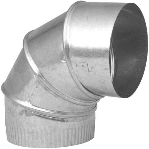 3 IN GALVANIZED 90 DEGREE ADJUSTABLE ELBOW 28 GAUGE