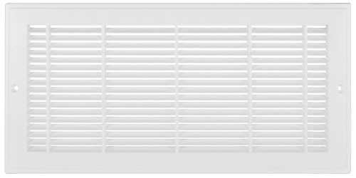PLASTIC SIDEWALL GRILLE, 12 IN.X8 IN., WHITE