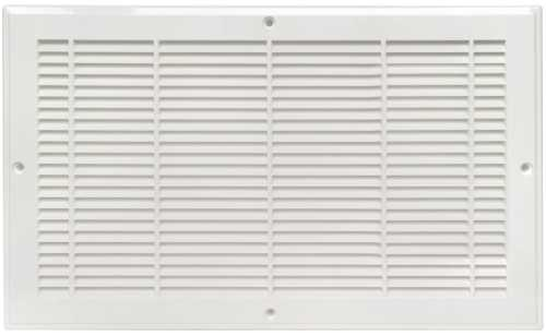 PLASTIC BASEBOARD GRILLE, 12 IN.X6 IN., WHITE