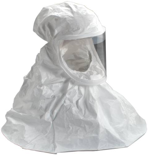 3M WHITE RESPIRATOR HOOD BE-10-3, REGULAR, USE WITH 3M AIRMATE,