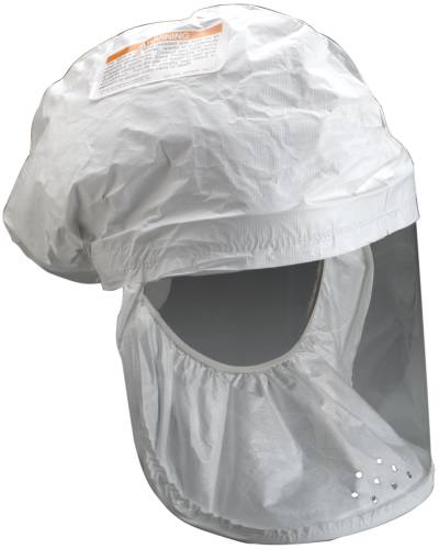 3M WHITE RESPIRATOR HEAD COVER, BE-12L-3, LARGE LGIHTWEIGHT (PAP