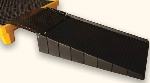 ULTRATECH POLYETHYLENE LOADING RAMP WITH 21 IN. PLATE, BLACK