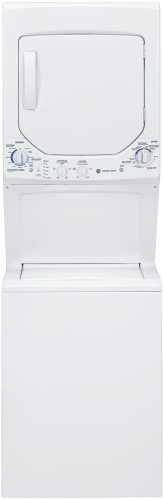 GE UNITIZED SPACEMAKER 2.2 DOE CU FT WASHER AND 4.4 CU FT GAS DR
