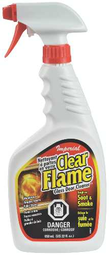 GLASS CLEANER, CLEAR FLAME, 22OZ