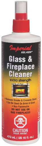 GLASS & FIREPLACE CLEANER, 16OZ