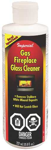 GAS FIREPLACE GLASS CLEANER, 8OZ