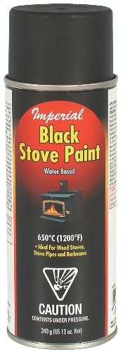 STOVE PAINT, WATER BASED, 12OZ, BLACK