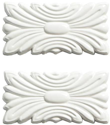 SEAM COVER PLATES DOVE WHITE 3 IN. X 1.5 IN. X .25 IN., 2 PACK