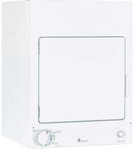 GE 24 IN. SPACEMAKER STATIONARY ELECTRIC DRYER, FRONT LOAD WHITE