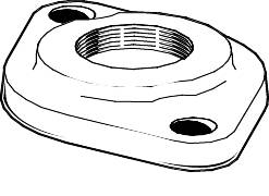 BRONZE CIRCULATING PUMP FLANGE & UNIONS, 1 IN. THREADED