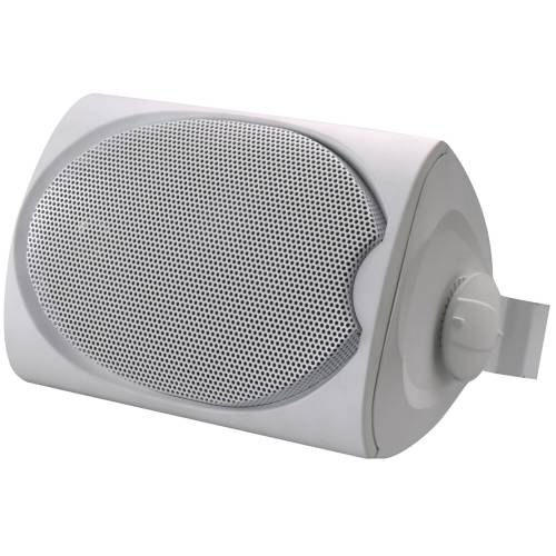 LEVITON OUTDOOR OR UTILITY TWO-WAY LOUDSPEAKER WITH BRACKET, WHI