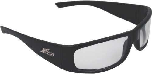 BOAS XTREME SAFETY GLASSES, BLACK FRAME, CLEAR LENS