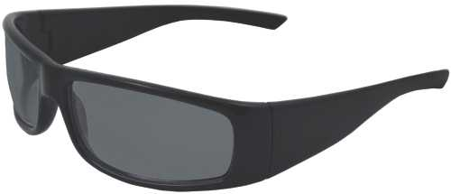 BOAS XTREME SAFETY GLASSES, BLACK FRAME, SMOKE LENS