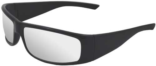 BOAS XTREME SAFETY GLASSES, BLACK FRAME, SILVER MIRROR LENS