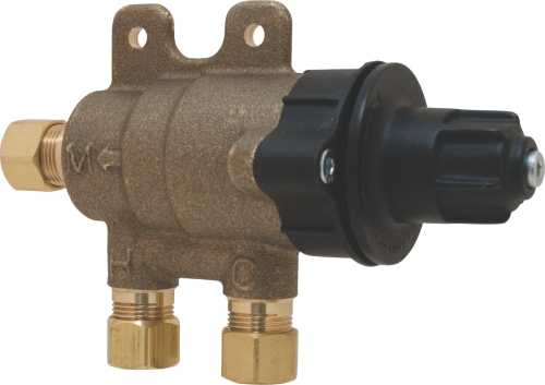 CHICAGO FAUCETS ECAST® THERMOSTATIC MIXING VALVE WITH WALL BRACK