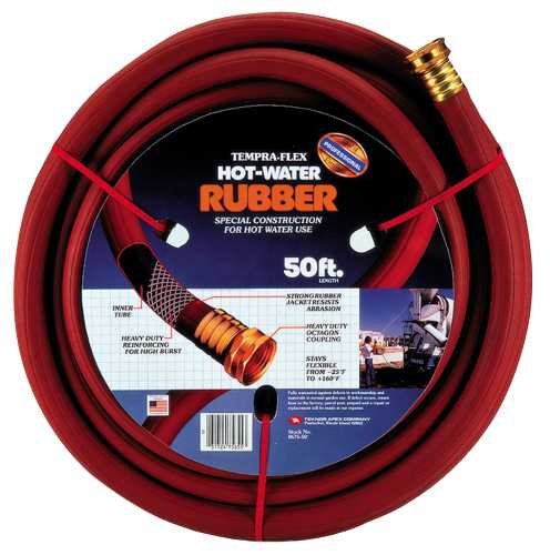 "TEMPRA FLEX HOSE HOT WATER 3/4""X50' RED"