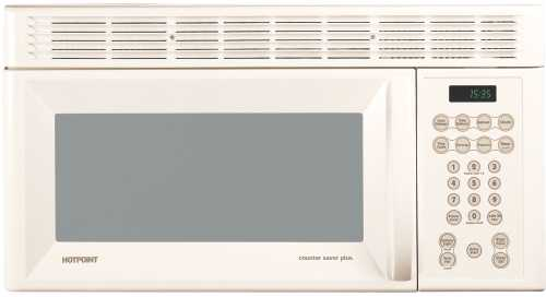 GE HOTPOINT 1.5 CU. FT. OVER THE RANGE MICROWAVE OVEN -BISQUE