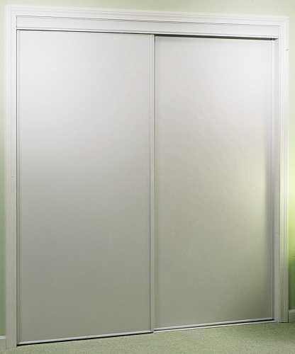 BYPASS DOOR 48 IN. X 80 IN. WHITE FLUSH VINYL & BIFOLD DOORS : All Southern Supply Maintenance \u0026 Repair Supplies