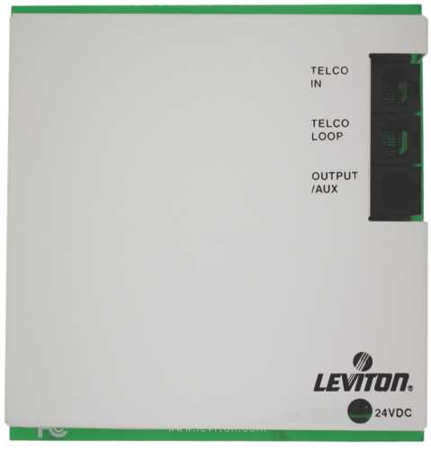 LEVITON INTERCOM MAIN CONTROLLER BOARD