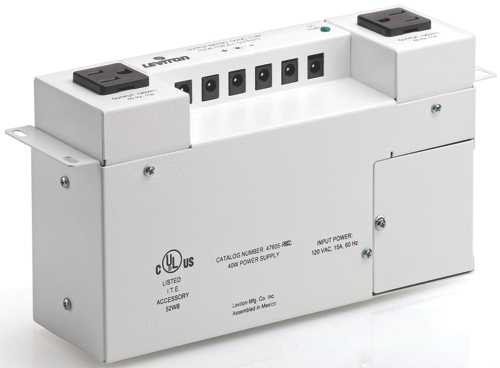 LEVITON VERSATILE POWER SUPPLY FOR STRUCTURED MEDIA CABINET