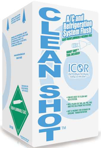 ICOR INTERNATIONAL CLEANSHOT™ A/C AND REFRIGERATION SYSTEM FLUSH