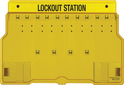MASTER LOCK 10 PADLOCK STATION WITH COVER, UNFILLED