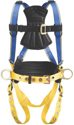 BLUE ARMOR 1000 H232102 CONSTRUCTION 3 D RINGS HARNESS, MEDIUM/L