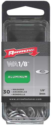 ARROW ALUMINUM WASHERS, 1/8 IN.