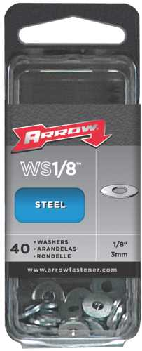 ARROW STEEL WASHERS, 1/8 IN.