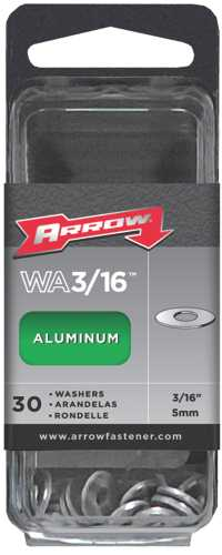 ARROW ALUMINUM WASHERS, 3/16 IN.