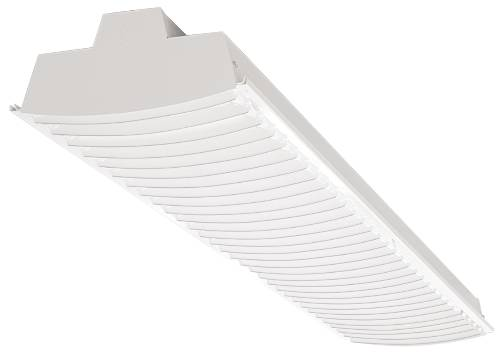 FLUORESCENT FIXTURE 2-32 WATT T8 BULBS CURVED S REFLECTOR 4 FT.