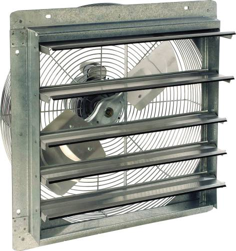 SHUTTER FAN, 17 IN. WALL OPENING
