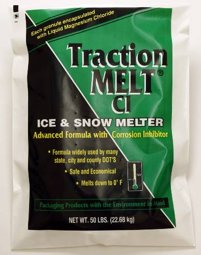TRACTION MELT ICE MELTER & TRACTION ENHANCER 50 POUND