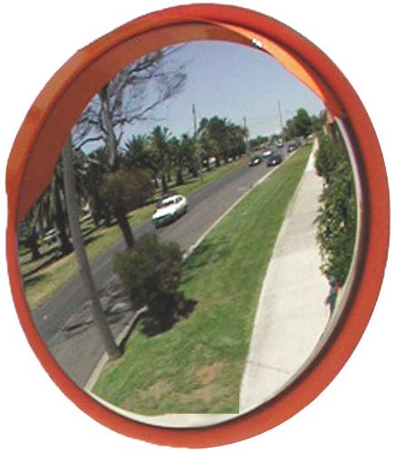 STAINLESS STEEL SECURITY MIRROR, 12 IN.