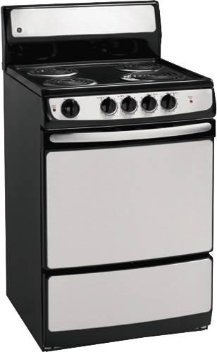 GE RANGE ELECTRIC FREE STANDING 24 IN. STAINLESS