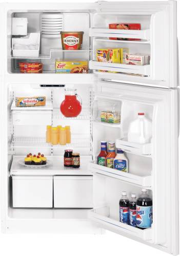 GE ENERGY STAR 18.0 CU. FT. TOP FREEZER REFRIGERATOR WHITE