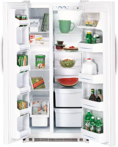 GE 19.8 CU. FT. SIDE-BY-SIDE REFRIGERATOR BISQUE