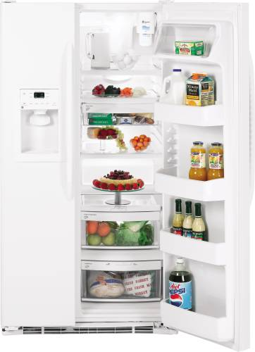GE 23.1 CU FT ENERGY STAR® SIDE-BY-SIDE REFRIGERATOR WITH DISPEN