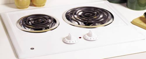 GE COOKTOP 2-BURNER WHITE