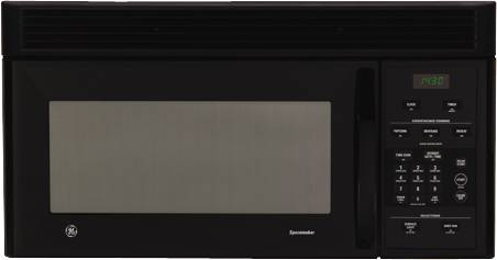 GE SPACEMAKER MICROWAVE OVEN 1.4 CUFT BLACK