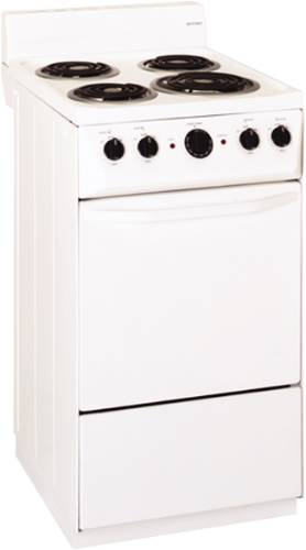 HOTPOINT RANGE ELECTRIC 20 IN. FREE STANDING WHITE