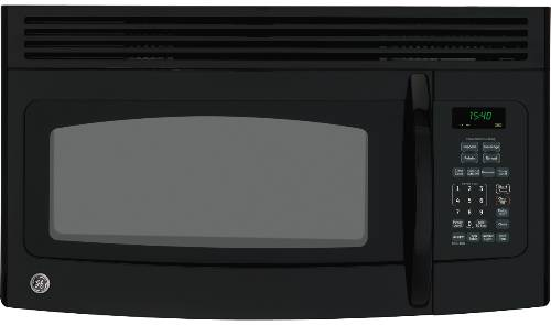 GE OVER-THE-COUNTER MICROWAVE BLACK