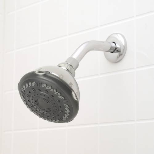 PREMIER MASSAGE SHOWER HEAD 7 SETTINGS ABS CHROME GRAY FACE