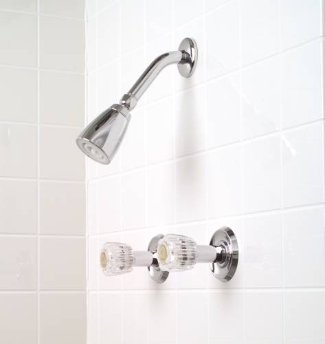 CONCORD SHOWER FAUCET WASHERLESS WITH 2 HANDLES CHROME FINISH