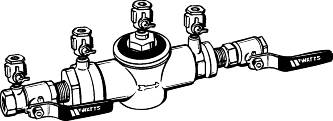 "BACKFLOW PREVENT SYSTEM 1"" FIP"