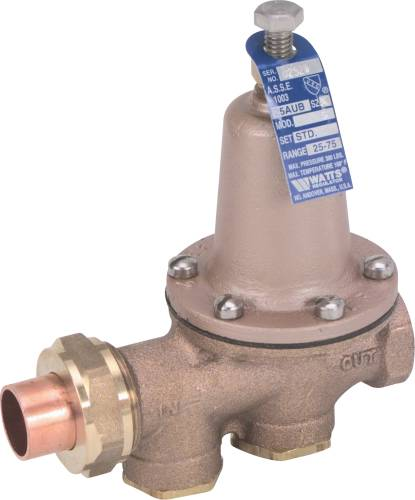 WATER PRESSURE REDUCING VALVE 1 IN SWEAT X 1 IN FIP