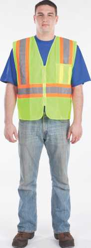 UTILITY PRO WEAR MESH VEST WITH STRIPE, YELLOW, 4XL