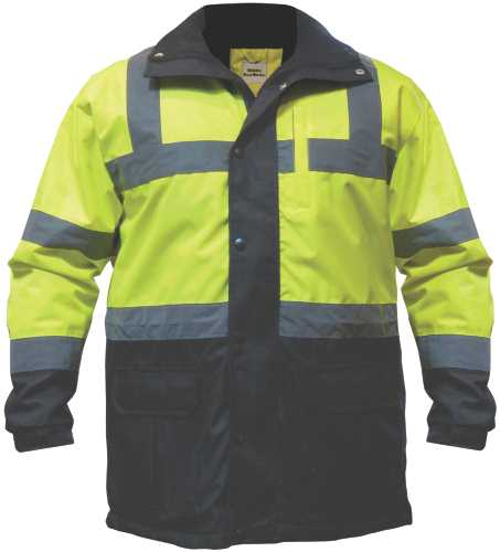 UTILITY PRO WEAR CONTRACTOR PARKA, YELLOW AND BLACK, MEDIUM