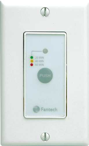 ELECTRONIC WALL CONTROL WITH ON/OFF, HIGH & LOW SPEED AND 20 MIN